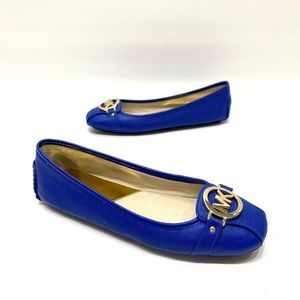 Michael Kors blue leather loafers women's 8.5